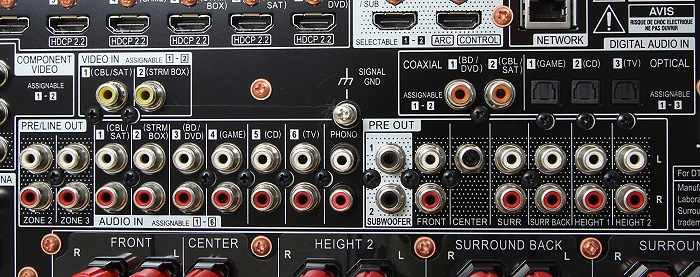 Pioneer SC-LX801 Anschluesse Rueckseite2