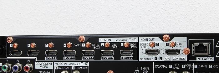 Pioneer SC-LX801 Anschluesse Rueckseite4