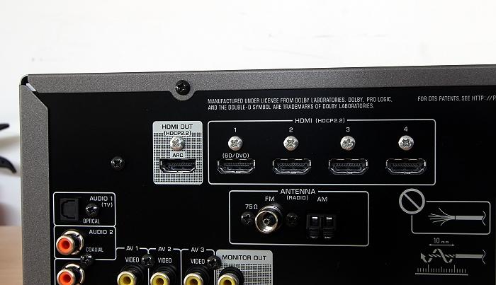 Yamaha RX-V483 Anschluesse Rueckseite3