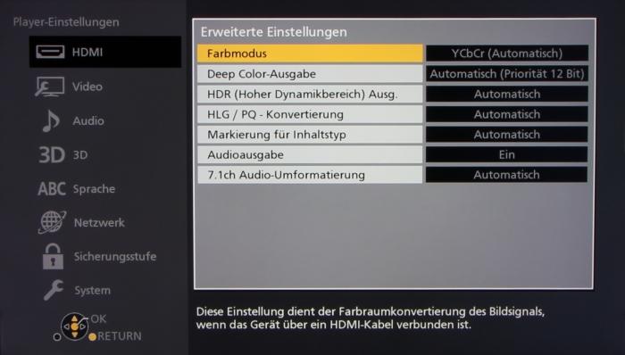 Panasonic DMP-UB404 Screenshot6