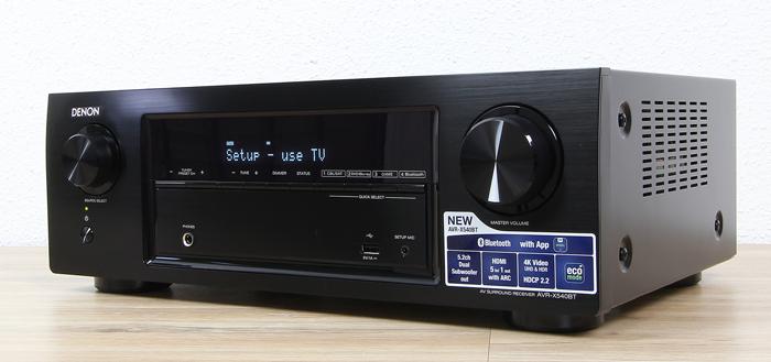 Denon-AVR-X540BT-Front-Seitlich1