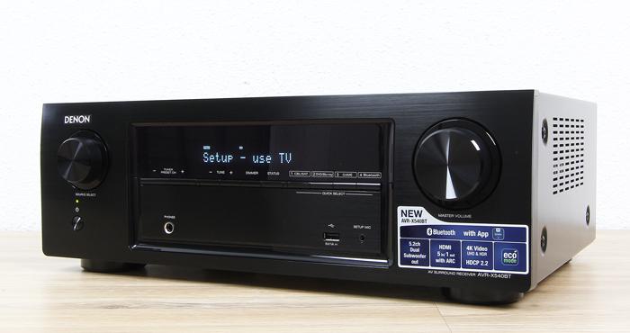 Denon-AVR-X540BT-Front-Seitlich2