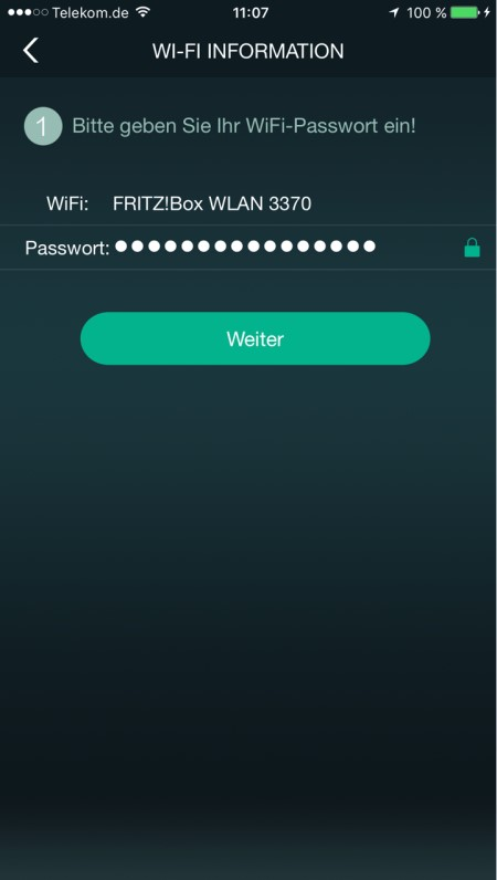 Quadral Breeze App WiFi Passwort