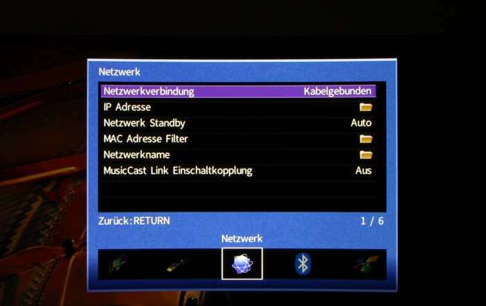 Yamaha RX-A870 Screenshot 8
