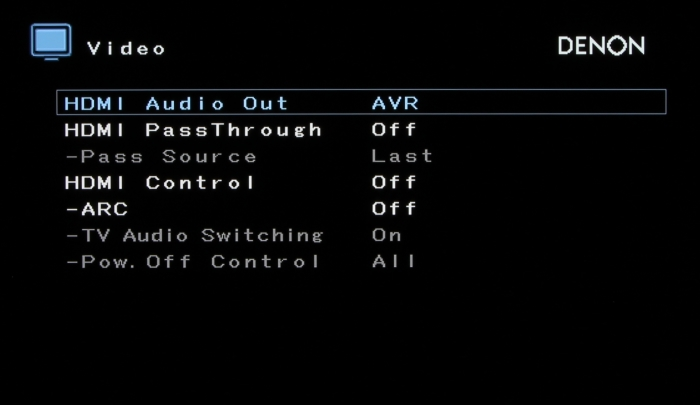 Denon AVR-X5400BT Screenshot 13