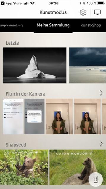 Samsung The Frame App Bildauswahl