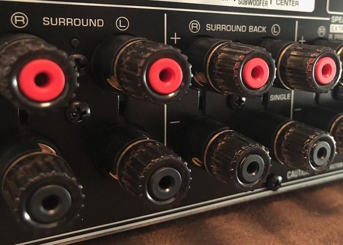 Yamaha RX-A3070_Lautsprecherkabel_Anschluesse