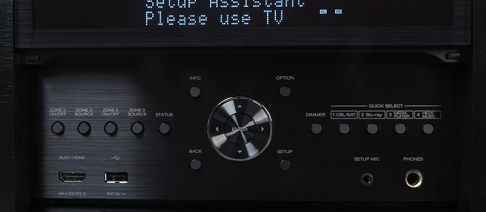 Denon AVC-X8500H Bedienelemente Frontklappe