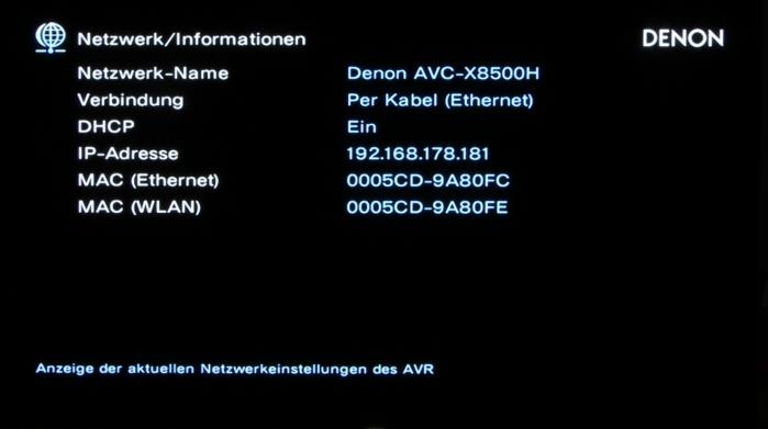 Denon AVC-X8500H Screenshot 27