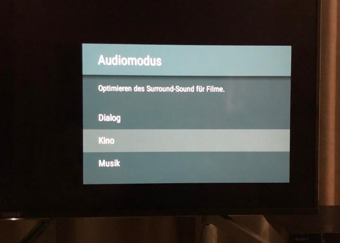 Sony_KD55X8505_menue_audiomodus