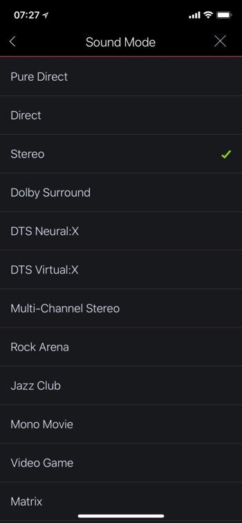 Denon AVC-X8500H Heos Soundmodi