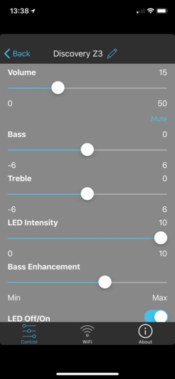 Elac Discovery Z3 App Einstellungen