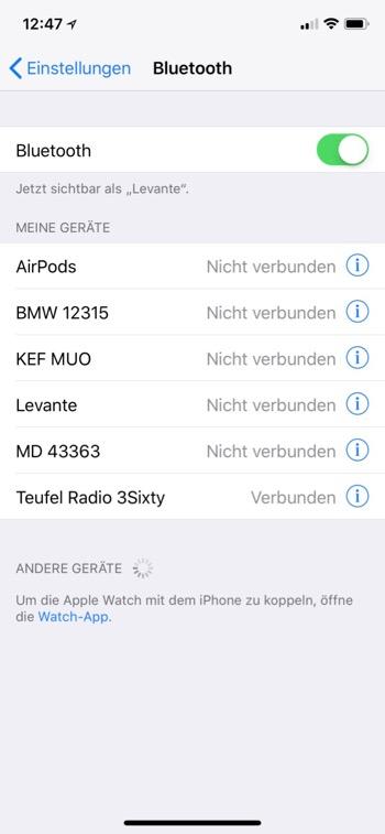 Teufel Radio 360 BT Verbunden