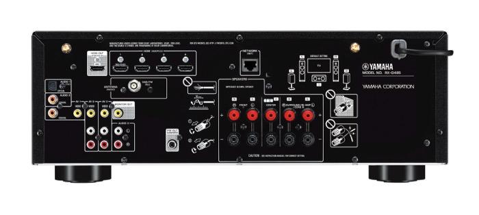 Yamaha RX-D485 back