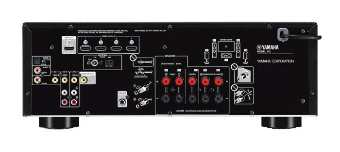 Yamaha RX-V385 back