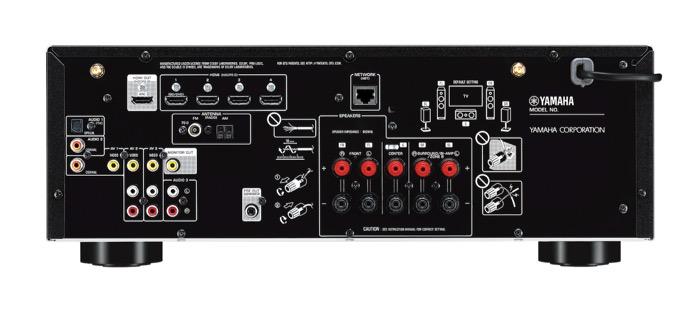 Yamaha RX-V485 back