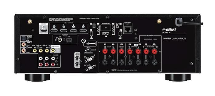 Yamaha RX-V585 back