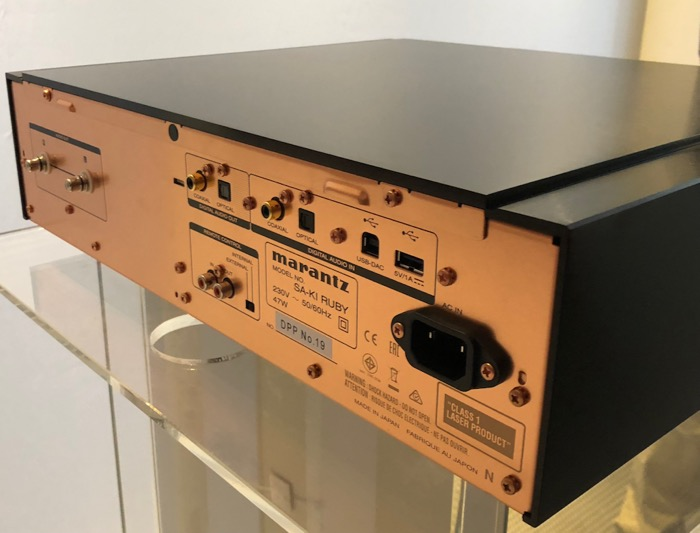 Mai HE Marantz KI Ruby SACD Player back