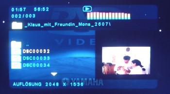 yamaha dvd 557: