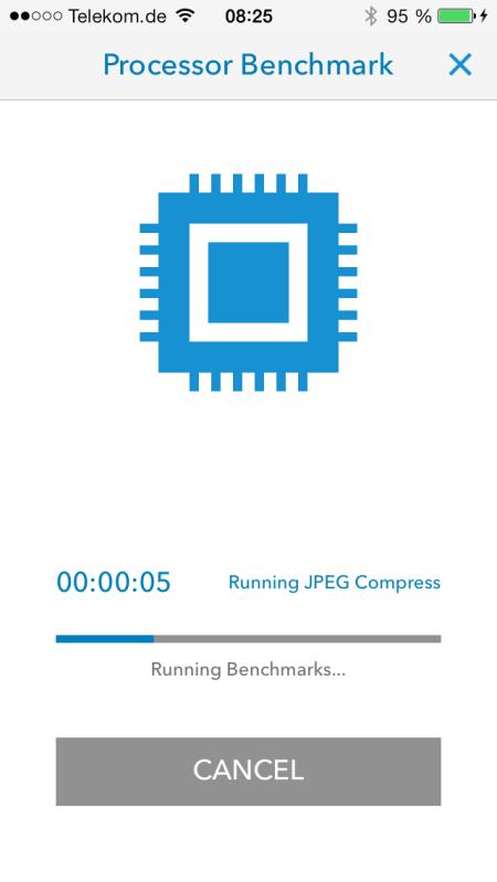 Apple iPhone5S Geekbench Running