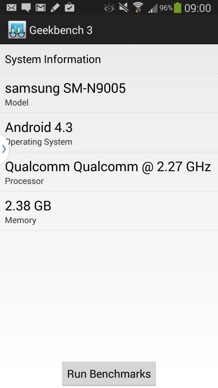 Benchmark Samsung Galaxy Note3 1