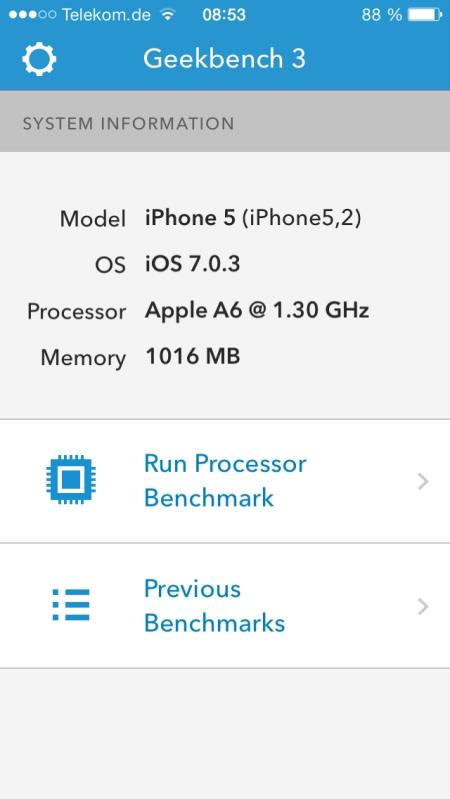 Benchmark iPhone5 4