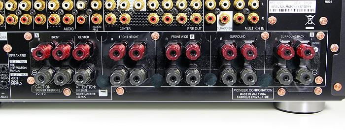 Pioneer SC-LX87 Anschluesse Rueckseite1