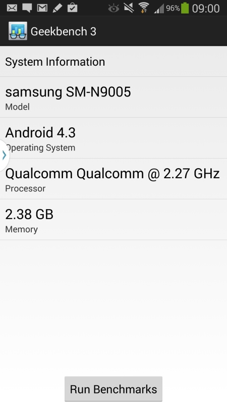 Samsung Galaxy Note 3 Screenshot 1