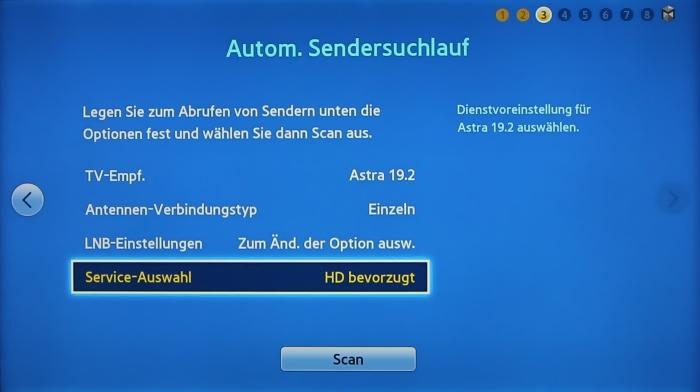 Samsung UE55F8590 Menuebild 4