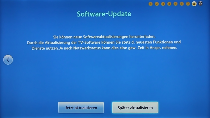 Samsung UE55F8590 Menuebild 9
