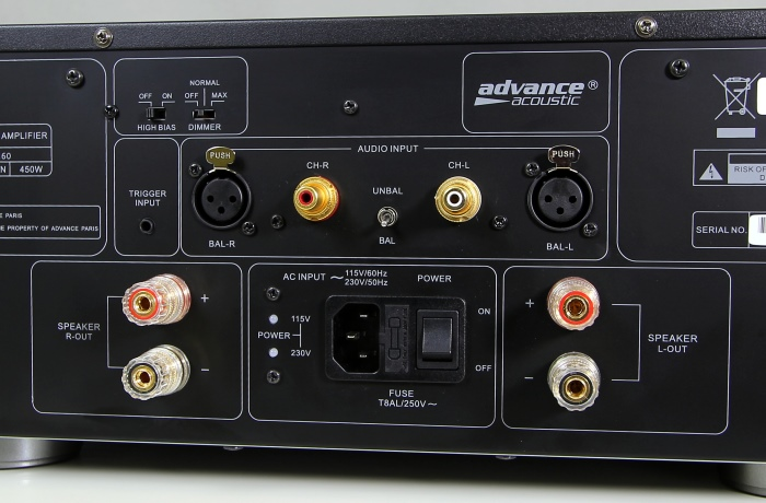 Advance Acoustic X-A160 Anschluesse1