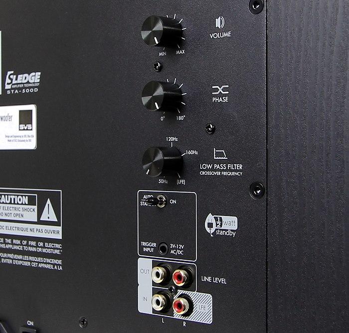 SVS SB-2000 Anschluesse Bedienelemente