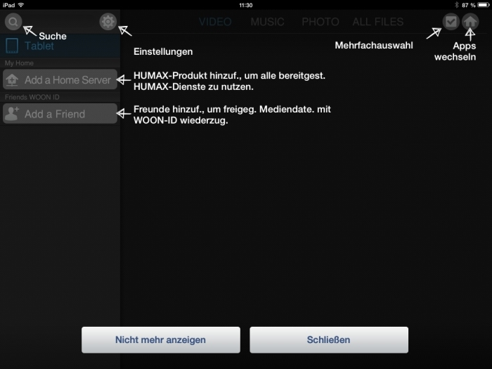 Humax iCord Evolution Media Player App2