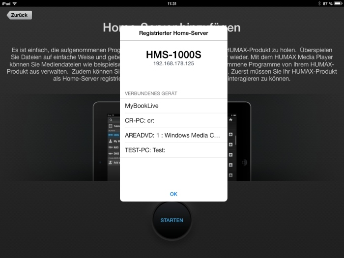 Humax iCord Evolution Media Player App4