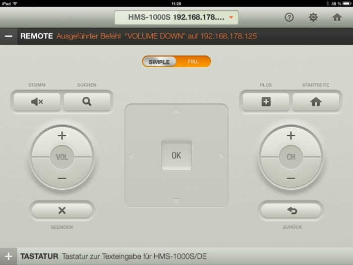 Humax iCord Evolution tv remote App3