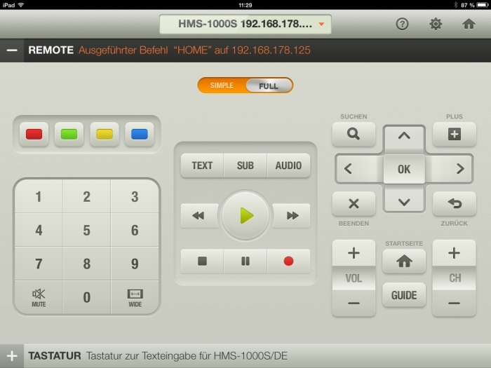 Humax iCord Evolution tv remote App6