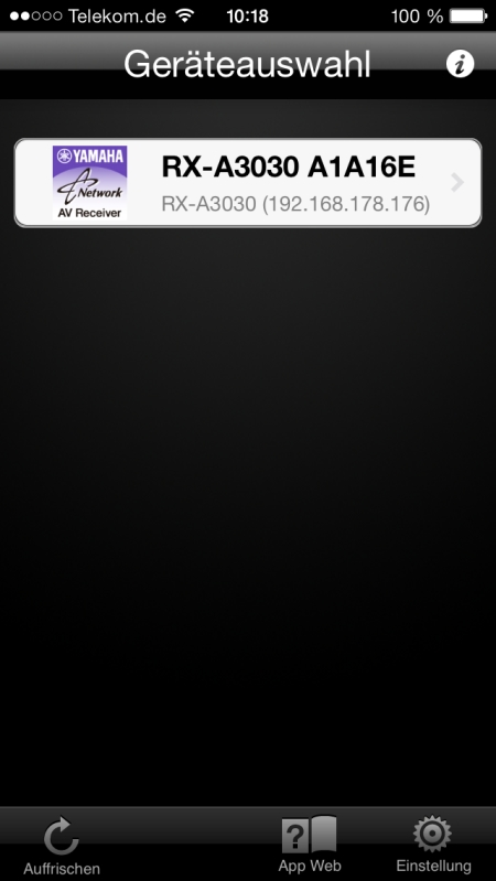 Yamaha RX-A3030 App 2