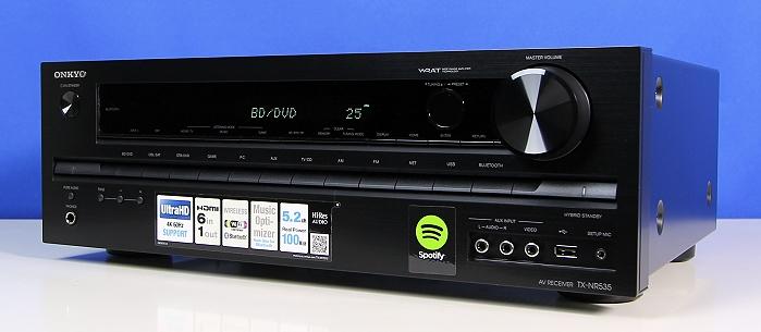 Onkyo TX-NR535 Front Seitlich4
