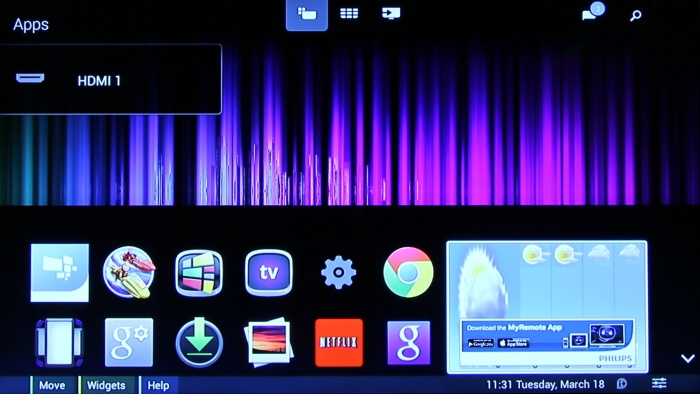 Philips Android TV Menue2