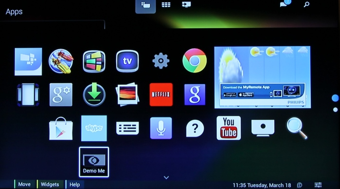 Philips Android TV Menue4