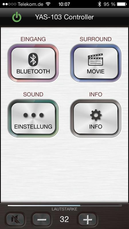 Yamaha YAS-103 App 2