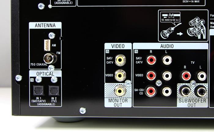 Sony STR-DN850 Anschluesse Rueckseite2
