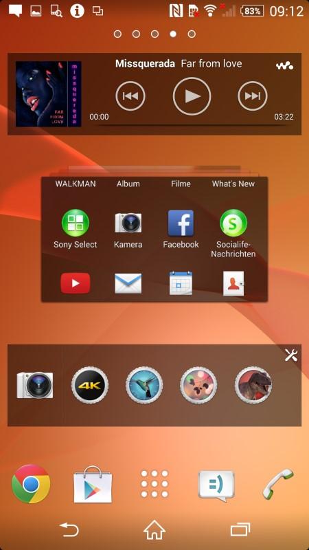 Sony Xperia Z2 Startmenu