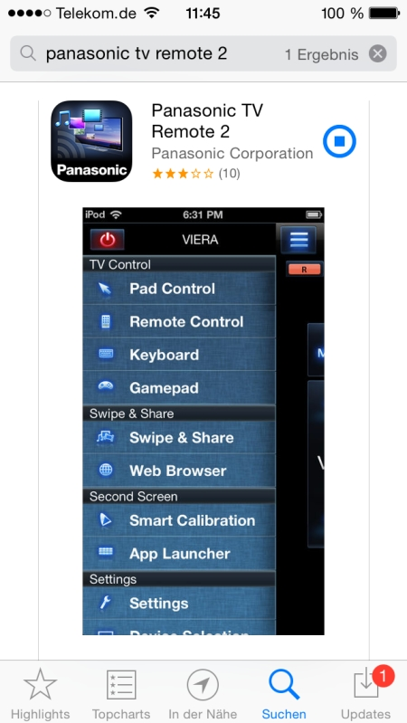 Panasonic TX-55ASW754 App 1