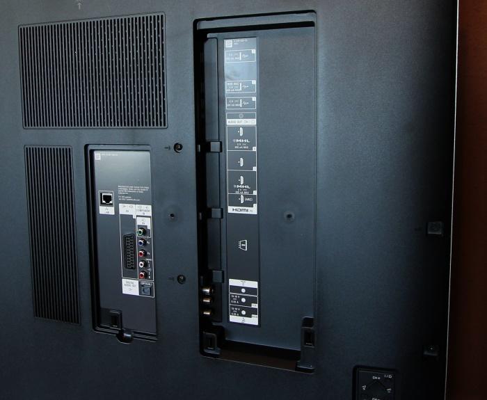 Sony KD65X9005B Anschluesse Rueckseite