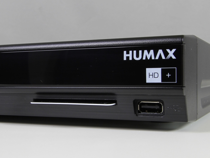 Humax iCord Pro Anschluss Front HD Karte