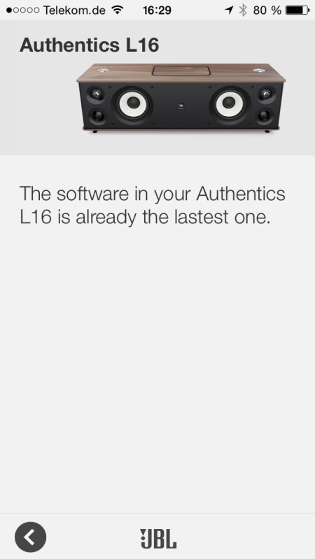JBL Authentics L16_neu App Softwareupgrade