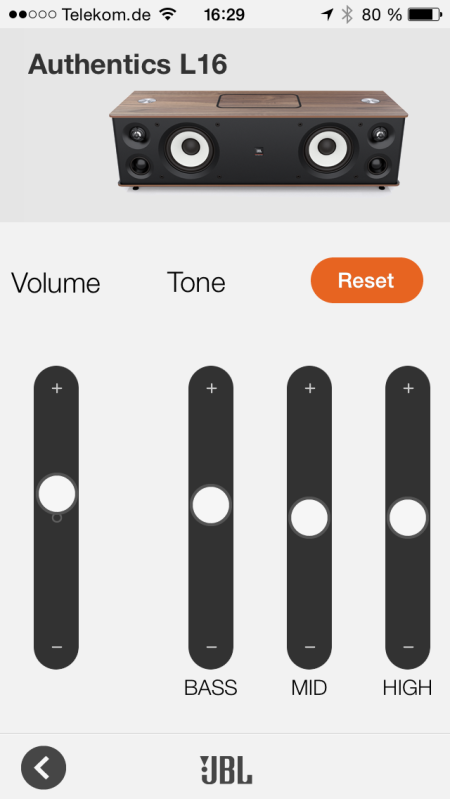 JBL Authentics L16_neu App Volume_Tone