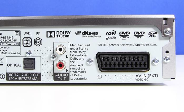 Panasonic DMR-BST845 Anschluesse Rueckseite1
