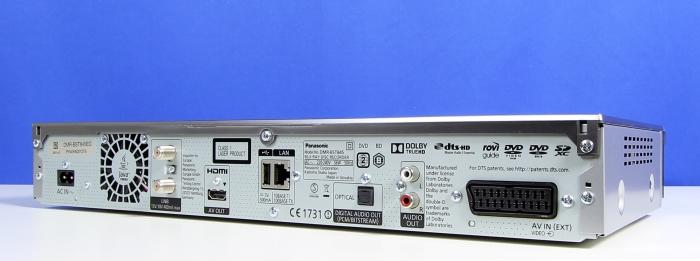 Panasonic DMR-BST845 Rueckseite Seitlich1